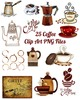 Thumbnail 25 Coffee Images Clip Art Transparent PNG Files Instant Down